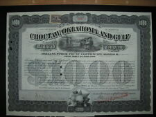 Choctaw Oklahoma and Gulf Railroad Company  1901   1000$ Bond