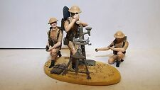 ROSE MINIATURES WW2 BRITISH MORTAR VIGNETTE AND 3 CREW ( N AFRICA )  (BS618)