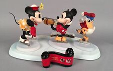 WDCC On Ice Figurines - Complete Set - Mickey Mouse Donald Duck Walt Disney COA