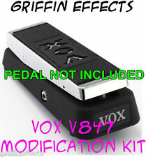 Vox V847 Wah True Bypass with LED Modification Kit - Griffin Effects - Bonus!