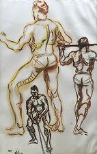 Anatomy Study No. 2 1949 By William Farrell Jr. Signed Drawing Philadelphia