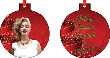 Personalized Marilyn Monroe Christmas Ornament ( Add Any Message You Want)