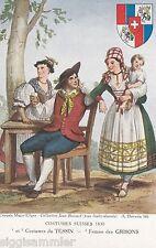 Tessin und Grisons Schweizer Trachten 1830 AK alt Schweiz Suisse Svizzera 609247