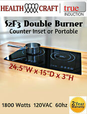 True Induction Double Burner - Counter Inset Model S2F3 110v 1800w