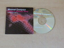 MINIMAL COMPACT - THERE'S ALWAYS NOW - REMIXES & REMAKES !!! PROMO CD !!!!