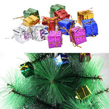 12X Colorful XMAS Small Gift Boxes Christmas Tree Hanging Decoration OrnamentsLA