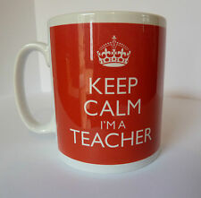 New Keep Calm I'm a Teacher In Carry On Style Gift Present Mug Retro School