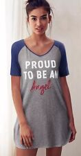 Victoria's Secret S Grey Red, White & Blue PROUD TO BE AN ANGEL Sleep Tee NWT
