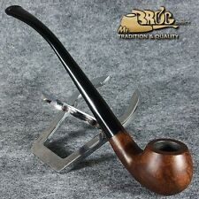"""EXCLUSIVE HAND MADE - SMOOTH BRIAR wood smoking pipe """" YEOWOMAN """" Brown smooth"""