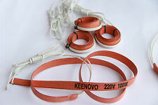 15X1000mm,100W@220V, Keenovo Univeral Silicone Heater Strip, Pipe Heating Belt
