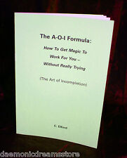 THE AOI Formula. Magick Finbarr Occult Grimoire. Rare Witchcraft Book