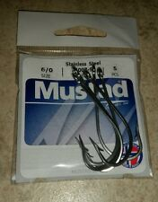 Mustad 34007-SS 6/0 Stainless Steel Fishing Hooks Qty. 5