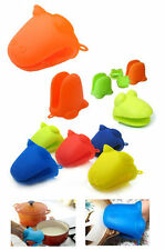 Kitchen Oven Glove Heat Resistant Silicone Pot Holder Baking BBQ Cook Mitts