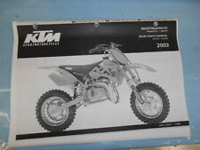 2003 KTM 50 Junior Senior Adventure Engine and Chassis Spare Parts Manual 320877