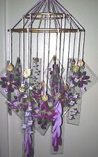 Japanese Chinese Glass Wind Chime windchimes Vintage VIOLET