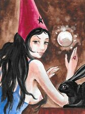 1.5x2 DOLLHOUSE MINIATURE PRINT OF PAINTING RYTA 1:12 SCALE WITCH MAGIC HAT ART