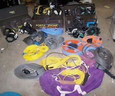 Big Lot Porta Phone Football Field Communications Gear Headsets Cables Controls