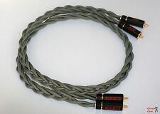 1M High end Turntable RCA cable low capacitance, advanced shielding, earth cable