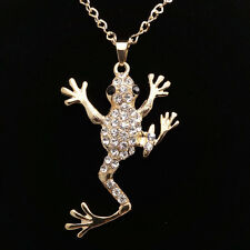 Fashion Gold-plated Frog Crystal pendant Long necklace Sweater chain  LL72