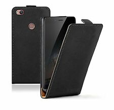 SLIM BLACK Leather Flip For ZTE Nubia Z11 Case Cover Pouch  + 2 FILMS