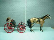 Dollhouse Miniature Deluxe Buggy -4 Wheel Handcrafted Wi Breyer Horse