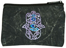 coin purse tie dye buddha evil eye hamsa Day Glow small bag change purse