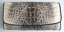 VINTAGE REAL GENUINE CROCODILE alligator SKIN LEATHER LONG CLUTCH WALLET NEW