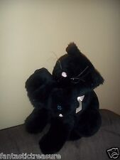 SUMMIT COLLECTION REALISTIC PLUSH DOLL FIGURE MOMMA & BABY FELINE BLACK CAT TOYS