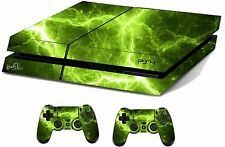 Green Electric Sticker/Skin PS4 Playstation 4 Console/Remote controller,ps4sk18