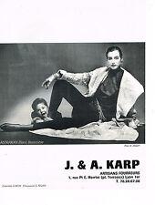 PUBLICITE ADVERTISING 044   1986   J.& A  KARP  boutique fourrure