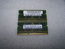4 Gb Samsung 1066 Mhz Ddr3 Pc3-8500s Laptop Memoria (2x 2gb Set)