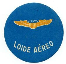 LOIDE AEREO ~BRAZIL~ Scarce Old Airline Luggage Label, c. 1955