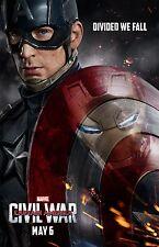 "Captain America Civil War movie poster (c) - 11"" x 17"" Captain America poster"