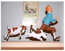 Tim & Milou de la chèvre personnage statue tintin 18cm limitée terrae neuf (L)