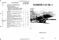 Hawker Harrier GR 1 Jump Jet Manual RARE 1970's RAF historic archive vtol