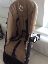 Bugaboo Stroller Toddler Seat Frame harness fabric tan sand cameleon/ Frog base