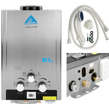 Natural Gas 8L Tankless Instant Hot Water Heater Boiler Stainless 16kw 2.1 GPM