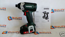 "New Metabo SSD18 LT 18V Cordless Li-Ion 1/4"" Impact Driver & Battery 2.0Ah"