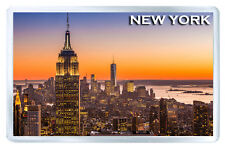 NEW YORK SUNSET MOD3 FRIDGE MAGNET SOUVENIR IMAN NEVERA