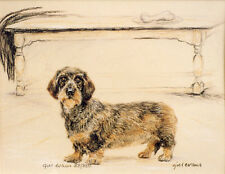 DACHSHUND WIRE HAIRED DAXI GERMAN SAUSAGE DOG ART - Artists Proof # 18/85