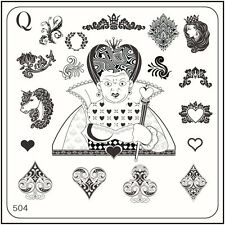 MoYou Nail Fashion Square Stamping Image Plate 504 Alice Style