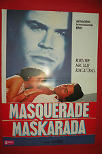 MASQUERADE 1988 ROB LOWE KIM CATTRALL MEG TILLY UNIQUE EXYU MOVIE POSTER