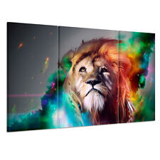 Ready To Hang Canvas Print Wall Art Painting-Large Sad Lion Wood Framed