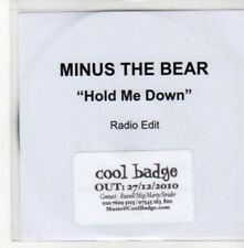 (BY596) Minus The Bear, Hold Me Down - 2010 DJ CD