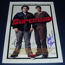 SUPERBAD MOVIE CAST x3 PP SIGNED POSTER 12X8 FOGEL