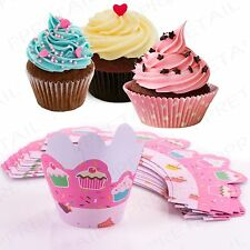 Cupcake Wrappers 12Pc Wedding/Birthday/Baby Shower Fairy Cake Decoration Case