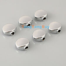Set 6 Pcs Guitar Chrome Metal Machine Head Oval Tuner Buttons For BT-17CR