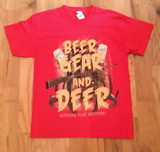 NWT BEER GEAR and DEER Nothing Else Matters T-Shirt Mens Small S