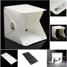 "9"" Portable Photo Studio Photography Tent Kit  Backdrop Lighting Cube Soft Box"