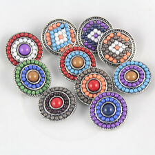 10pcs Mix Color Pearl Round Chunks Snap Button Noosa Charms For DIY Bracelet